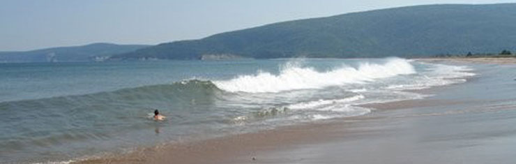 Fun In The Surf At South Harbour Beach Walking Distance From Hideaway Campground Cape